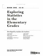 Exploring Statistics in the Elementary Grades