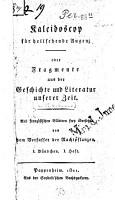 Kaleidoskop f  r hellsehende Augen oder Fragmente aus der Geschichte und Literatur unserer Zeit PDF