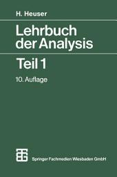 Lehrbuch der Analysis: Teil 1, Ausgabe 10