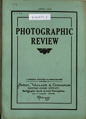 Photographic Review: A Journal Devoted to Photography, Volume 24, Issue 4