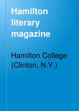 Hamilton Literary Magazine PDF