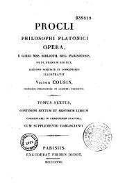 Procli Philosophi Platonici opera : e codd. miss. biblioth. reg. Parisiensis