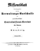 Missionsblatt: 1845