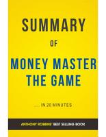 Money Master The Game  by Tony Robbins   Summary and Analysis PDF