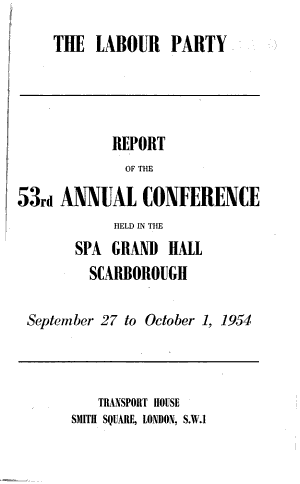 Report of the Annual Conference - Labour Party (Great Britain)
