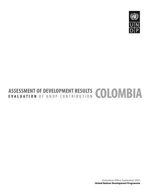 Assessment of Development Results   Colombia PDF