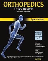 Orthopedics Quick Review for NEET DNB PDF