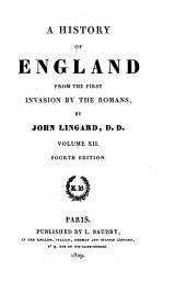 A History of England: From the First Invasion by the Romans, Volume 12