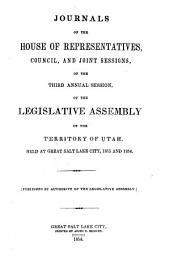 Journals of the Legislative Assembly of the Territory of Utah: Volume 3