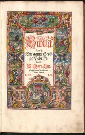 Biblia Das ist Die gantze Heylige Schrifft Teutsch