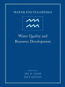 Water Encyclopedia  Water Quality and Resource Development PDF