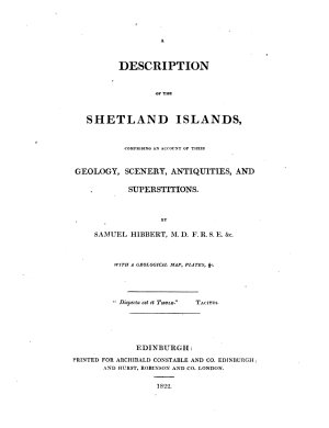 A Description of the Shetland Islands  Comprising an Account of Their Geology  Scenery  Antiquities  and Superstitions PDF
