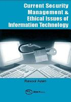 Current Security Management   Ethical Issues of Information Technology PDF