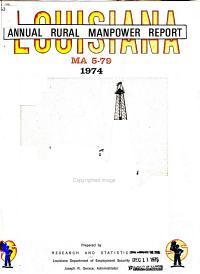 Louisiana Annual Rural Manpower Report