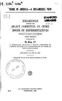 Crime in America  a Mid America View PDF