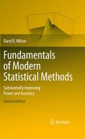 Fundamentals of Modern Statistical Methods PDF