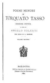 Poemi minori di Torquato Tasso: Mazzoni, G. Del Monte Oliveto e del Mondo creato di Torquato Tasso. Il Mondo creato. Appendice