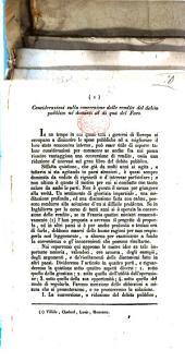 Considerazioni sulla conversione delle rendite del debito pubblico ne'dominii al di qua del Faro