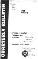 Alcohol  Tobacco and Firearms Quarterly Bulletin PDF