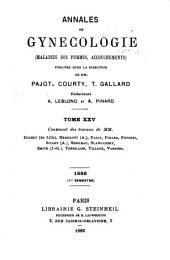 Annales de gynécologie et d'obstétrique: Volumes25à26