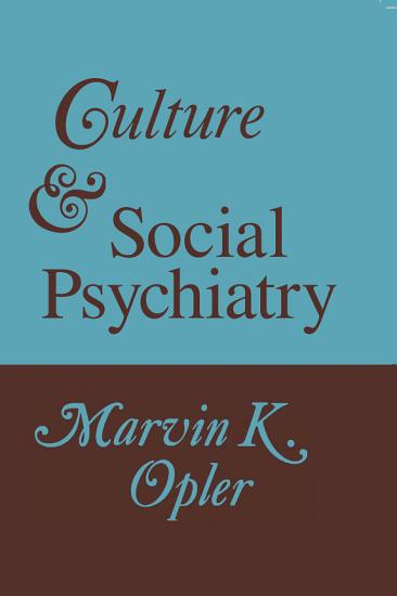 Culture and Social Psychiatry PDF