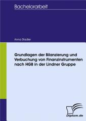 Grundlagen der Bilanzierung und Verbuchung von Finanzinstrumenten nach HGB in der Lindner Gruppe