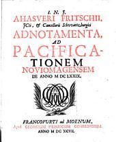 Adnotamenta, ad pacificationem noviomagensem de anno 1679