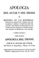 Apologi   del Altar y del Trono PDF