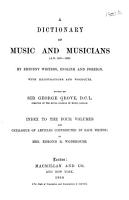 A Dictionary of Music and Musicians  A D  1450 1880  by Eminent Writers  English and Foreign PDF