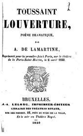 Toussaint Louverture: poème dramatique