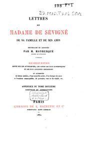Lettres de Madame de Sévigné, de sa famille et de ses amis: Volume15