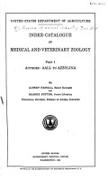 Index catalogue of Medical and Veterinary Zoology PDF