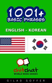 1001+ Basic Phrases English - Korean
