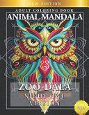 Zoo Dala Night Owl Version Vol 28  Animal Mandala  Adult Coloring Book PDF