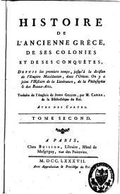 Histoire de l'ancienne Grèce, de ses colonies et de ses conquêtes: Volume2