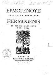 Hermogenus Peri Ideōn: Tomoi Dyo