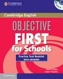 Objective First For Schools Practice Test Booklet with Answers and Audio CD
