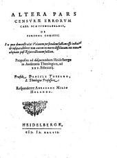Censura aliquot errorum Casparis Schwenckfeldii circa doctrinam de persona Christi: Page 2