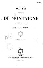 Oeuvres de Michel de Montaigne