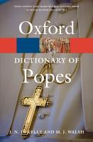 A Dictionary of Popes PDF