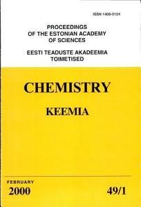 Proceedings of the Estonian Academy of Sciences  Chemistry PDF