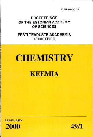 Proceedings of the Estonian Academy of Sciences  Chemistry PDF