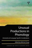Unusual Productions in Phonology PDF
