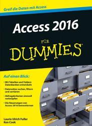 Access 2016 f  r Dummies PDF