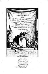 Fables choisies mises en vers par J. De La Fontaine, nouvelle édition gravée en taille douce, les figures par le sieur Fessard, le texte par le sieur Montulay, dédiée aux enfants de France