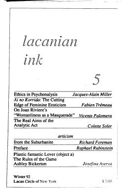 Lacanian Ink PDF