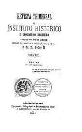 Revista do Instituto Histórico e Geográfico Brasileiro: Volume 9;Volume 11;Volume 54;Volumes 83-84