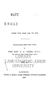 Matthew Paris's English History: From the Year 1235 to 1273, Volume 2