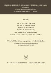 Wirtschaftliche Entleerungsgebiete in Industrieländern: Ein Beitrag zur Theorie der Raumwirtschaft und der Regionalpolitik für die BRD