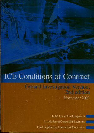 Ice Conditions of Contract Ground Investigation Version PDF